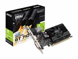 MSI GeForce GT 710 2GB DDR3 PCI Express 2.0 Low Profile Video Card GT 710 2GD3 LP