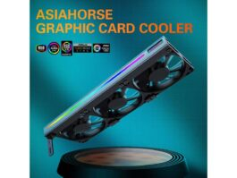 ASIAHORSE Graphic Card Cooler 3 x 92mm PWM Fan WIth Led Frame Support ASUS Aura SYNC/MSI Mystic Sync/ASROCK Aura RGB/GIGABYTE RGB Fusion (5V 3 Pin Addressable headers)